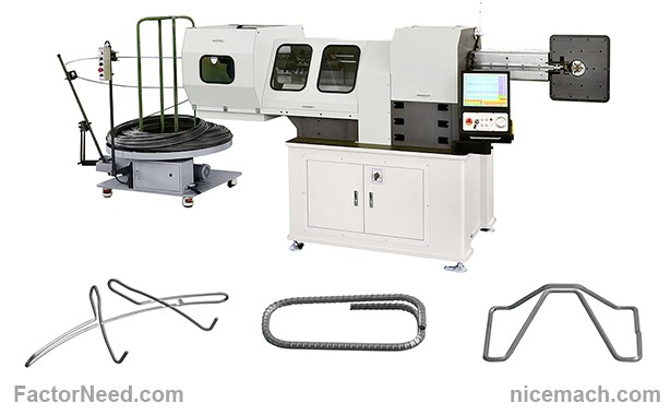 Three-dimensional (3-D) CNC Wire Bending Machines